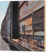 Rustic Train Wood Print
