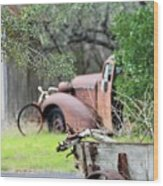 Rustic Truck Wood Print