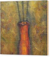 Rustic Tulips Wood Print