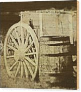 Rustic Wagon And Barrel Wood Print