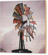 Rustic Windmill Wood Print
