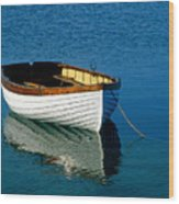 Rustic Wooden Row Boat. Wood Print