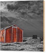 Rusting Away Wood Print by Meirion Matthias