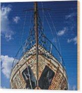 Rusting Boat Wood Print