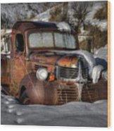 Rusting In Winter Wood Print