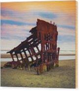 Rusting Shipwreck Wood Print