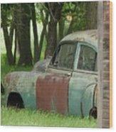 Rustmobile And Shack Wood Print