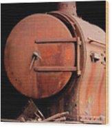 Rusty Abandoned Steam Locomotive Wood Print