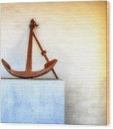 Rusty Anchor Wood Print