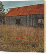 Rusty Barn Wood Print