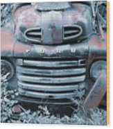 Rusty Blue Ford Wood Print by Jame Hayes