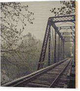 Rusty Bridge Wood Print by William Schmid