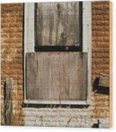 Rusty Building Wood Print