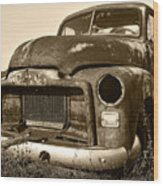 Rusty But Trusty Old Gmc Pickup Wood Print by Gordon Dean II