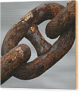 Rusty Chain Wood Print