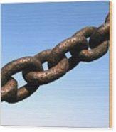 Rusty Chain Wood Print