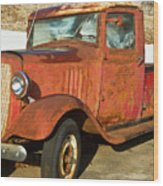 Rusty Chevrolet Pickup Truck 1934 Wood Print