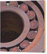 Rusty Circles Wood Print