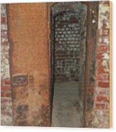 Rusty Door At Ohio Prison Wood Print