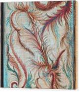 Rusty Feathers Wood Print