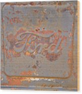 Rusty Ford Wood Print