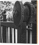 Rusty Gate Wood Print