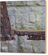 Rusty Girder Wood Print