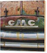 Rusty Gmc Truck Wood Print