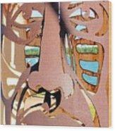 Rusty Head Wood Print