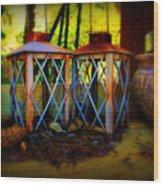 Rusty Lanterns   Wood Print