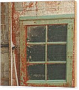 Rusty Lighthouse Window Wood Print