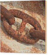 Rusty Links 1 Wood Print