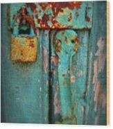 Rusty Lock Wood Print