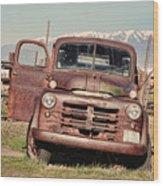 Rusty Old Dodge Wood Print