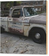 Rusty Old Dodge Wood Print