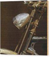 Rusty Old Farmer's Bike Wood Print