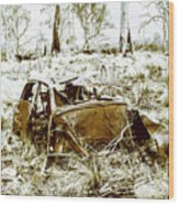Rusty Old Holden Car Wreck  Wood Print