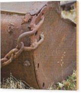 Rusty Old Ore Scoop Wood Print
