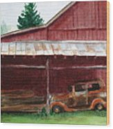 Rusty Ole Car Wood Print