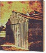Rusty Outback Australia Shed Wood Print