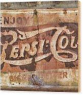 Rusty Pepsi Cola Wood Print