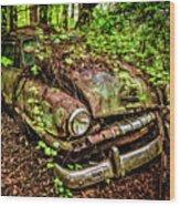 Rusty Plymouth Wood Print
