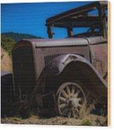 Rusty Postcard Wood Print