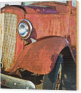 Rusty Red Chevrolet Pickup Truck 1934 Wood Print