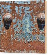 Rusty Rivets Wood Print