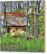 Rusty Roof Wood Print