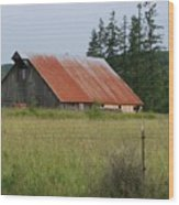 Rusty Roofed Barn    Washington State Wood Print