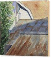 Rusty Roofs Wood Print