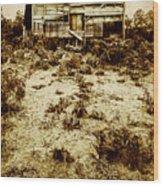 Rusty Rural Ramshackle Wood Print