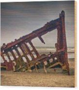 Rusty Shipwreck Wood Print